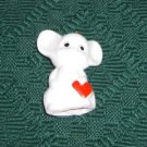 Mouse With a Red Heart Bell, Just as Sweet As He Can Be