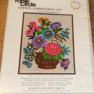 FAMILY CIRCLE FLOWER ARRANGEMENT CREWEL PICTURE - NIP