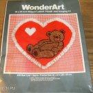 BEAR LOVE VALENTINE HEART EYELET TRIMMED WONDERART NIB