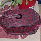 STYLISH BURGUNDY MAKEUP BAG, NEW