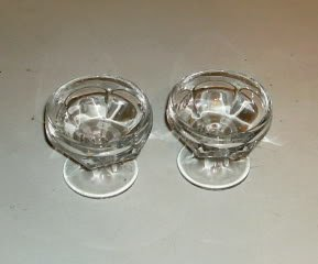 2 Clear Glass Sundae Dishes,Great For Replacements