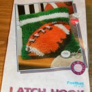 FOOTBALL LATCH HOOK PILLOW KIT - GRT FOR FOOTBALL FAN