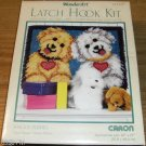 SHAGGY PUPPIES - LATCH HOOK KIT-WONDERART- SO SWEET