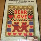 BEAR LOVE DESIGNER WALL HANGING,NICOLE CREATIONS, NEW