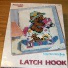 BABY COWBOY BEAR - WONDERART LH RUG/WALLHANGING- SWEET