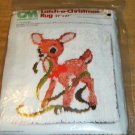 REINDEER LATCH  XMAS RUG FROM COL MINERVA-CANVAS & YARN