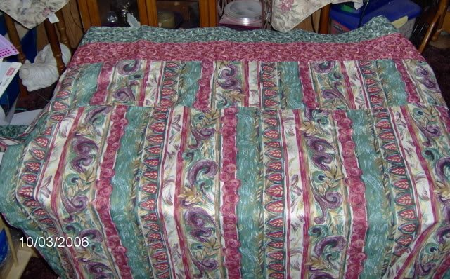 Matching Curtains, Bugundy & Green Floral,Various Sizes