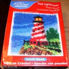 RED LIGHTHOUSE PILLOW KIT FROM J & P COATS, NEW IN BOX