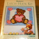 TEDDY WITH A HEART FROM CARON-SWEET PILLOW/WALL HANGING