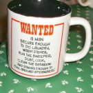 Wanted Housework Cup, Great Gift,Amusing,Man or Woman