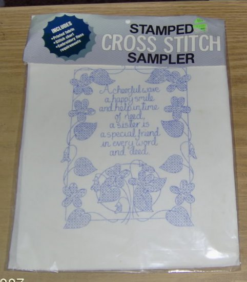 SISTER IS A SPECIAL FRIEND SAMPLER
