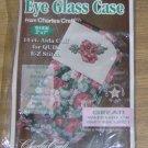 CHARLES CRAFT CABBAGE ROSE EYEGLASS CASE 1