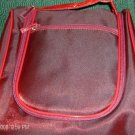SHINY RED MAKEUP BAG,HANG TO USE, CLOSE TO CARRY,NEW
