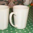 3 Beige Striped Coffee Cups, Dishwasher Safe,Gibson