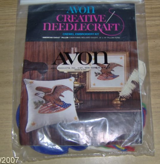 AMERICAN EAGLE KIT FROM AVON - PILLOW OR PICTURE - NICE