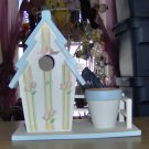 ROSES & RIBBONS BIRDHOUSE WITH PLANTER - NEW