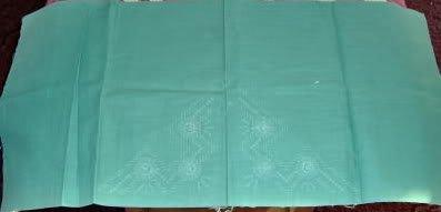 PRETTY GREEN PINWHEEL NAPKINS, SET OF 4