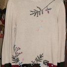 220 HICKORY FLOWERED SWEATER VERY PRETTY NWOT