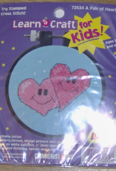 DIMENSIONS KIDS LEARN A CRAFT GLOW IN THE DARK HEARTS