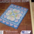NIB HEARTS AND FLOWERS RUG KIT