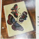 BUTTERFLY COLORFUL FLIGHT PRETTY RUG PATTERN BY BUCILLA