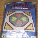 FOUR HEARTS WONDER HOOK PILLOW OR CHAIR PAD KIT, NIP