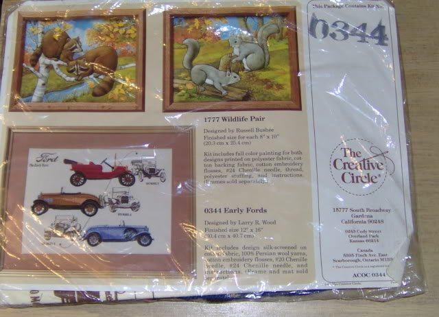 VINTAGE EARLY FORDS KIT FROM CREATIVE CIRCLE - 1986