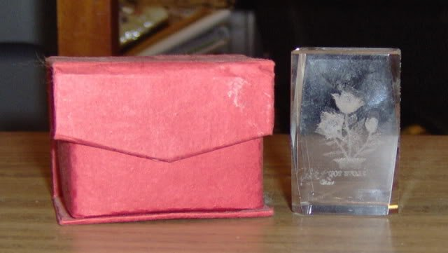 ROSE CRYSTAL WITH BOX - VERY PRETTY