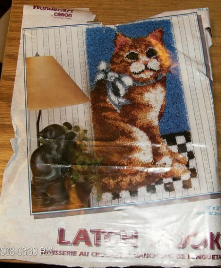 """CAT WALL HANGING FROM WONDERART 16"""" X 32"""" WALLHANGING"""