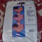 WE LOVE AMERICA HEART WALLHANGING - VERY PRETTY
