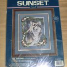 THE SENTINEL - STRIKING WOLF PICTURE FROM SUNSET - 1998