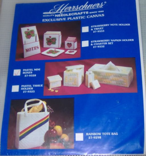 HERRSCHNERS PASTEL MINI BOXES,NIP, MAKES 3 BOXES