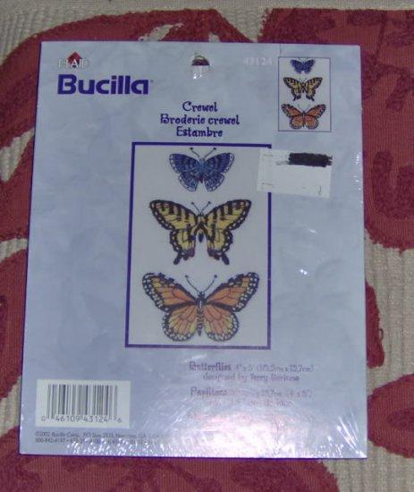 BUCILLA BUTTERFLY PICTURE - PRETTY -NIP