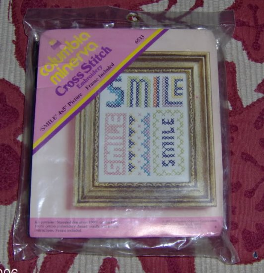 """VERY NICE """"SMILE"""" PICTURE,FRAME INCLUDED"""