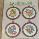 "SENTIMENTAL ""I AM THINKING OF YOU"" FLORAL STITCHKINS"