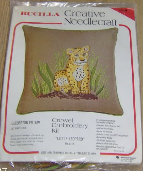 BUCILLA LITTLE LEOPARD - DARLING DECORATOR PILLOW - NIP