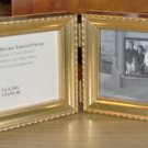 GOLDTONED DOUBLE TABLETOP FRAME, PRETTY, NEW