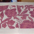 APPLIQUED FLOWER RUG - TAN & BURGUNDY- PRETTY