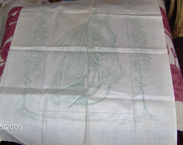 PRETTY HORSEHEAD PICTURE FOR EMBROIDERY - VINTAGE