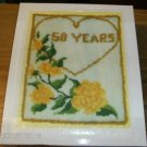 YELLOW ROSES & GOLD HEART FOREVER YOURS WALL HANGING