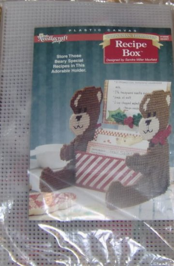 BEAR RECIPE BOX, CHRISTMAS TRIMMINGS, BEARY SPECIAL