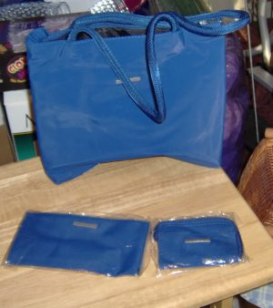 3 PIECE BLUE BAG SET - NEW IN PACKAGE