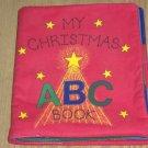 MY CHRISTMAS ABC BOOK - HAND SEWN - PADDED - NICE