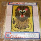 LION FROM R&D CREATIONS LATCH HOOK CANVAS PATTERN NIP