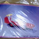 WOODEN RACE CAR KIT - NIP - NEAT PROJECT FOR CHILD