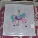 BEAUTIFUL HAND PAINTED CAROUSEL HORSE CANVAS BY ANN