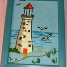 Pretty Framed Lighthouse Picture,Seagulls and Sea Scene