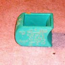 Turquoise Blue Ceramic Accent With Leaf Design, Pretty