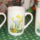 2 Flower Coffee Cups, Small Size, Floral Design, Pretty