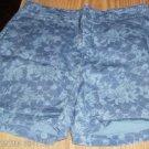 Faded Glory Blue Floral Denim Shorts, Summery,Cute